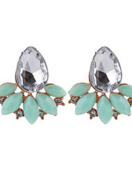 cheap -Women's Opal / Crystal Stud Earrings - Crystal, Resin Drop Fashion Light Yellow / Green / Pink For Daily / Going out