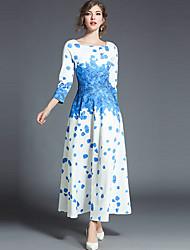 baratos -Mulheres Bainha Vestido - Estampado, Floral Decote U