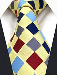 Недорогие -мужской партийный рабочий районный галстук - радужная чек-жаккард