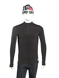 Недорогие -Муж. Термоодежда - Черный Виды спорта Спандекс Компрессионная одежда / Верхняя часть Длинный рукав Спортивная одежда С защитой от ветра,