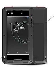 Недорогие -Кейс для Назначение Sony Xperia XA1 Ultra Xperia XA1 Вода / Грязь / Надежная защита от повреждений Чехол Сплошной цвет Твердый Металл для