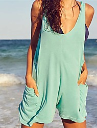cheap -Women's Strap Cover-Up - Solid, Backless