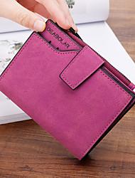 cheap -Women's Bags PU Wallet Zipper for Shopping Blushing Pink / Gray / Fuchsia