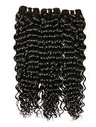 cheap -Brazilian Hair Wavy Human Hair Extensions Human Hair Weaves Extention / Hot Sale Natural Black All