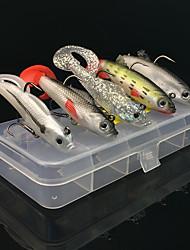 preiswerte -5 Stück Weiche Fischköder / Gummifische Kunststoff Köderwerfen Angeln Allgemein Spinnfischen