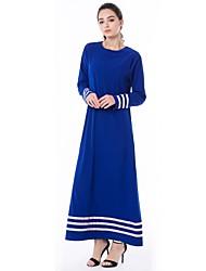 cheap -Women's Boho Loose Loose Dress - Floral Blue, Ruffle Maxi