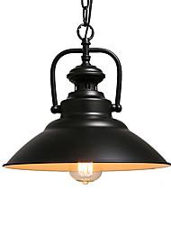 Недорогие -северная Европа винтажная промышленность черный металлический подвесной светильник столовая гостиная кухня светильник
