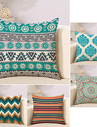 cheap -5 pcs Cotton/Linen Pillow Case Novelty Pillow Pillow Cover, Geometric Artwork Novelty Artistic Style Geometric