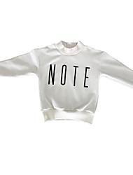 abordables -Pull à capuche & Sweatshirt Fille Quotidien Géométrique Polyester Printemps Manches Longues simple Marron Blanc