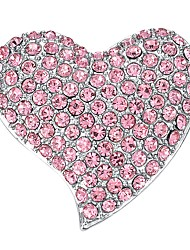 abordables -Femme Bohème Cœur Zircon cubique Plaqué or Broche - Bohème / Elégant Rose dragée clair Broche Pour Soirée / Cadeau