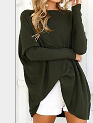 abordables -Tee-shirt Femme, Couleur Pleine Sexy