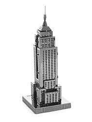 preiswerte -3D - Puzzle Metallpuzzle Kreativ Fokus Spielzeug Handgefertigt Metal Architektur Ständer Spielzeug Mädchen Jungen Geschenk