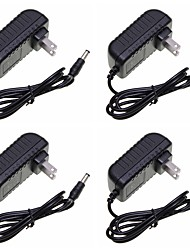 cheap -SENCART 4pcs 100-240V AU UK EU US Power Adapter Power Supply Plastic Black for LED Strip light