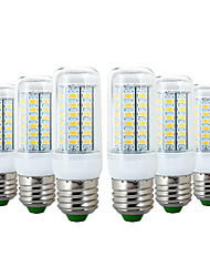 cheap -YWXLIGHT® 6pcs 6W 600-700lm E26 / E27 LED Corn Lights 56 LED Beads SMD 5730 Warm White Cold White 110-130V 220-240V