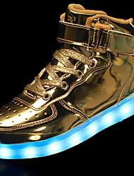 Недорогие -Муж. Осветительная обувь Искусственная кожа Весна / Осень Кеды Нескользкий Черный / Серебряный / Красный