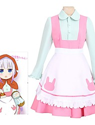 baratos -Inspirado por Miss Kobayashi's Dragon Maid Fantasias Anime Fantasias de Cosplay Ternos de Cosplay Vestidos Outro Manga Longa Peitilho
