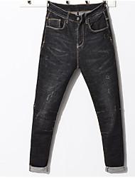 Недорогие -нормальный средний рост мужчин>75% джинсовые брюки, марочное волокно из твердого волокна из бамбука