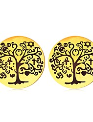 cheap -Women's Stud Earrings - Gold Plated Tree of Life Vintage, Ethnic Gold / Silver For Daily