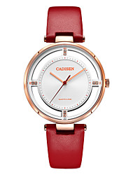 cheap -CADISEN Women's Quartz Fashion Watch Casual Watch Japanese Water Resistant / Water Proof Casual Watch Noctilucent Leather Band Elegant