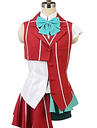 cheap -Inspired by Macross Frontier Cosplay Anime Cosplay Costumes Cosplay Suits Other Short Sleeves Cravat Shirt Top Skirt Pants More