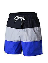 baratos -Homens Shorts de Corrida com Fenda - Azul, Vermelho / Branco, Azul Marinho Escuro Esportes Sólido Shorts Exercício e Atividade Física Roupas Esportivas Respirabilidade Micro-Elástica