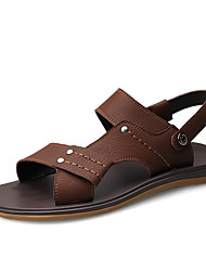 Недорогие -Муж. Искусственная кожа Весна / Лето Классика / Удобная обувь Сандалии Черный / Коричневый