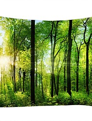 cheap -Landscape Still Life Wall Decor 100% Polyester Classic Traditional Wall Art, Wall Tapestries of