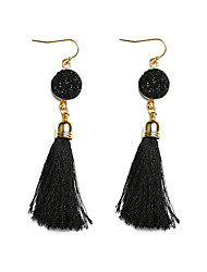 cheap -Women's Bohemian Synthetic Tanzanite Zircon Drop Earrings - Bohemian / Fashion Fuchsia / Light Blue / Royal Blue Circle / Line Earrings