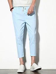 billige -Herre Bomuld Harem Bukser Ensfarvet