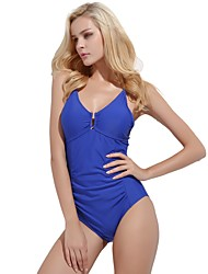 cheap -Women's One Piece Swimsuit Comfortable, Sports Nylon / Spandex Sleeveless Swimwear Beach Wear Bodysuit Solid Colored Swimming