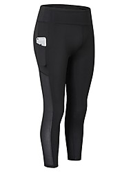preiswerte -Damen Kurze Laufhosen Atmungsaktivität 3/4 Strumpfhosen/Corsaire Übung & Fitness Polyester Weiß Schwarz Rose Rot Blau Grau S M L XL XXL