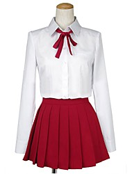 baratos -Inspirado por Himouto Fantasias Anime Fantasias de Cosplay Ternos de Cosplay Outro Manga Longa Peitilho Blusa Saia Para Homens Mulheres