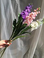 abordables -1 Une succursale Plastique Tissu Violet Arbre de Noël Fleurs artificielles