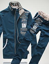 abordables -Homme Mince Mao Manches Longues Activewear Set Couleur Pleine