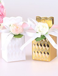 cheap -Bottle Art Paper Favor Holder with Flower Comb Sweetheart Bandage Favor Boxes - 12