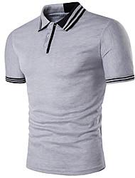 baratos -Homens Polo Moda de Rua Sólido Colarinho de Camisa / Manga Curta