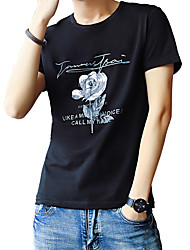 preiswerte -Herrn Solide Geometrisch-Grundlegend Street Schick T-shirt Druck