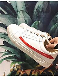 baratos -Homens sapatos Courino Primavera Outono Conforto Tênis para Casual Ao ar livre Preto Vermelho Azul