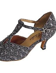 abordables -Femme Chaussures Latines Paillette Brillante Talon Intérieur Talon Personnalisé Personnalisables Chaussures de danse Argent