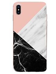 economico -Custodia Per Apple iPhone X iPhone 8 Ultra sottile Fantasia/disegno Per retro Geometrica Effetto marmo Morbido TPU per iPhone X iPhone 8