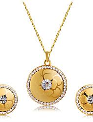 abordables -Femme Cristal / Zircon Ensemble de bijoux - Cristal, Zircon Classique, Mode Comprendre Boucles d'oreille goujon / Pendentif de collier Or Pour Mariage / Soirée