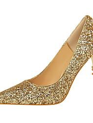 Недорогие -Жен. Обувь Лак Полиуретан Лето Осень Туфли лодочки Удобная обувь Обувь на каблуках На шпильке Закрытый мыс Заостренный носок Лак для Офис