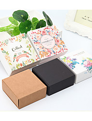 cheap -Square Card Paper / Kraftpaper Favor Holder with Gift Boxes - 1pc