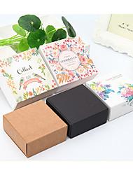 abordables -Carré Papier durci / Papier Kraft Titulaire de Faveur avec Boîtes Cadeaux - 1pc