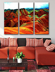 cheap -Stretched Canvas Prints Modern, Three Panels Canvas Vertical Print Wall Decor Home Decoration