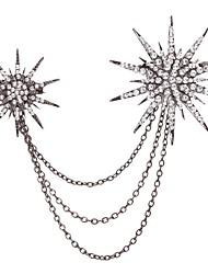 baratos -Mulheres Broches Gema Liga Floco de Neve Prata Simples Casual Fashion Jóias Diário Jóias de fantasia
