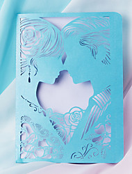 Недорогие -Плоские Свадебные приглашения 20 в комплекте - Наборы приглашений Художественный Розовая бумага