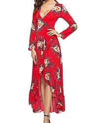 baratos -Mulheres Sofisticado balanço Vestido Floral Médio