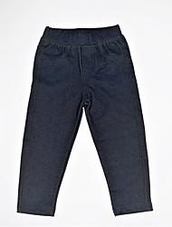 abordables -Pantalons Fille Quotidien Couleur Pleine Spandex Printemps Automne simple Décontracté Gris Foncé Bleu royal