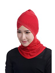 cheap -Women's Basic Hijab - Solid Colored Jacquard Beaded Mesh